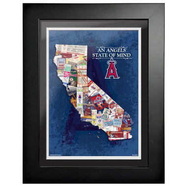 Los Angeles Angels State of Mind Framed 18 x 14 Ticket Collage Artwork