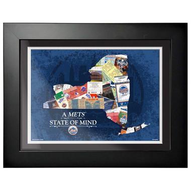 New York Mets State of Mind Framed 18 x 14 Ticket Collage Artwork