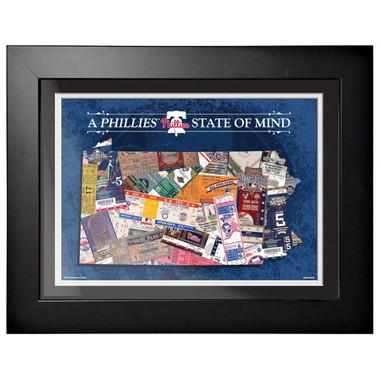 Philadelphia Phillies State of Mind Framed 18 x 15 Ticket Collage Artwork