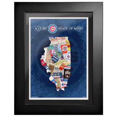 Chicago Cubs State of Mind Framed 18 x 15 Ticket Collage Artwork