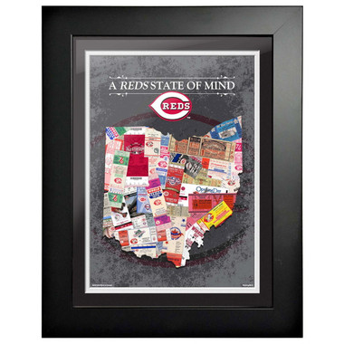 Cincinnati Reds State of Mind Framed 18 x 15 Ticket Collage Artwork