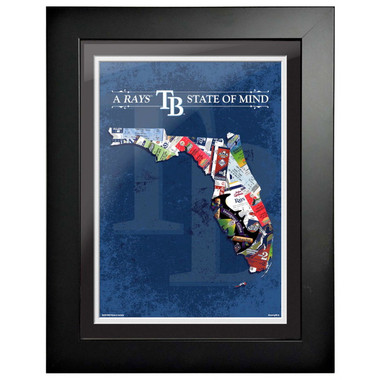 Tampa Bay Rays State of Mind Framed 18 x 15 Ticket Collage Artwork