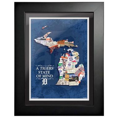 Detroit Tigers State of Mind Framed 18 x 14 Ticket Collage Artwork