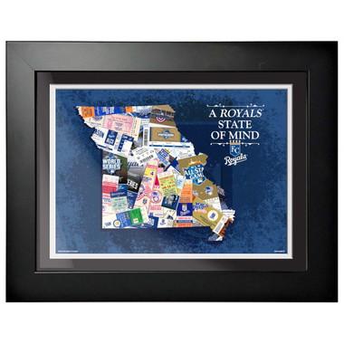 Kansas City Royals State of Mind Framed 18 x 15 Ticket Collage Artwork