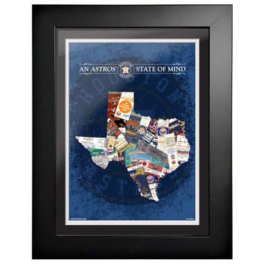 Houston Astros State of Mind Framed 18 x 15 Ticket Collage Artwork