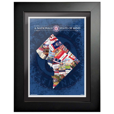 Washington Nationals State of Mind Framed 18 x 14 Ticket Collage Artwork