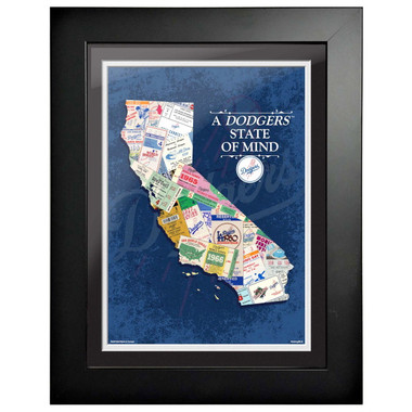 Los Angeles Dodgers State of Mind Framed 18 x 14 Ticket Collage Artwork