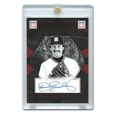 Dennis Eckersley Autographed Card 2015 Panini Cooperstown Red # 12 Ltd Ed of 49