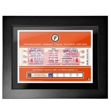 Baltimore Orioles 1966 World Series Game 4 Framed 18 x 14 Ticket