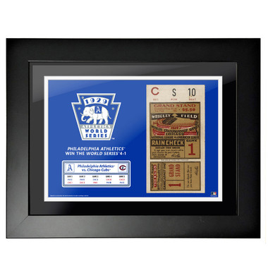Philadelphia Athletics 1929 World Series Framed 18 x 14 Ticket
