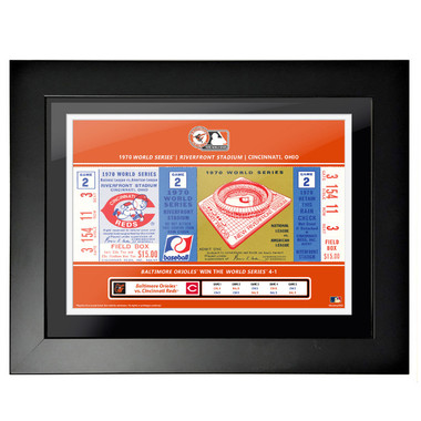 Baltimore Orioles 1970 World Series Game 2 Framed 18 x 14 Ticket