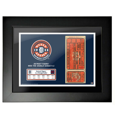 Detroit Tigers 1935 World Series Game 6 Framed 18 x 14 Ticket