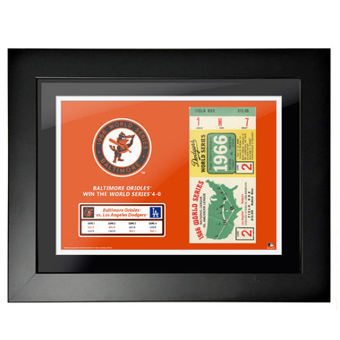 Baltimore Orioles 1966 World Series Game 2 Framed 18 x 14 Ticket