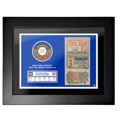 New York Yankees 1923 World Series Game 3 Framed 18 x 14 Ticket