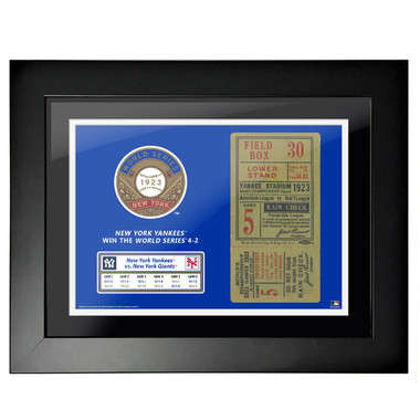 New York Yankees 1923 World Series Game 5 Framed 18 x 14 Ticket