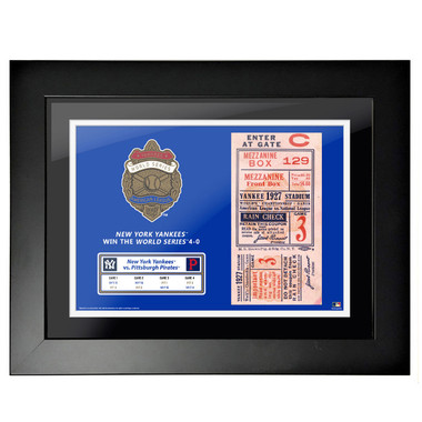 New York Yankees 1927 World Series Framed 18 x 14 Ticket
