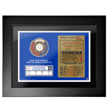 New York Yankees 1928 World Series Game 1 Framed 18 x 14 Ticket