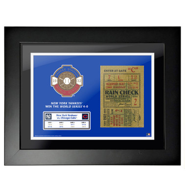 New York Yankees 1932 World Series Framed 18 x 14 Ticket