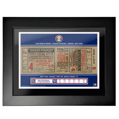 New York Yankees 1936 World Series Framed 18 x 14 Ticket