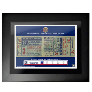 New York Yankees 1938 World Series Framed 18 x 14 Ticket