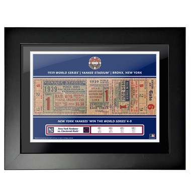 New York Yankees 1939 World Series Framed 18 x 14 Ticket