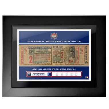 New York Yankees 1941 World Series Framed 18 x 14 Ticket