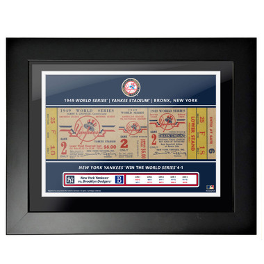 New York Yankees 1949 World Series Framed 18 x 14 Ticket