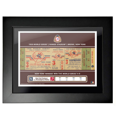New York Yankees 1950 World Series Framed 18 x 14 Ticket