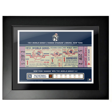 New York Yankees 1951 World Series Framed 18 x 14 Ticket