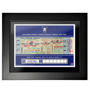 New York Yankees 1953 World Series Framed 18 x 14 Ticket