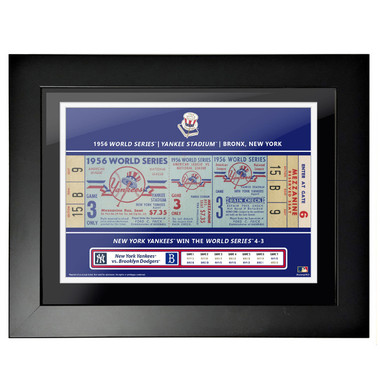 New York Yankees 1956 World Series Game 3 Framed 18 x 14 Ticket