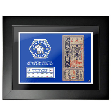 Philadelphia Athletics 1930 World Series Framed 18 x 14 Ticket