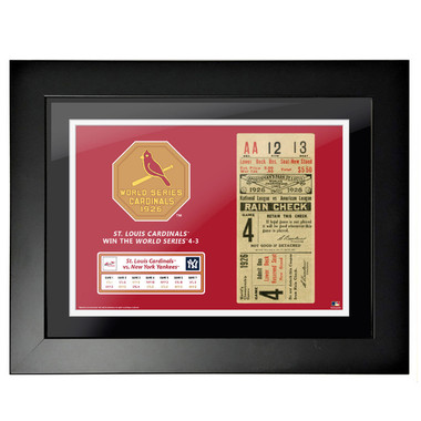 St. Louis Cardinals 1926 World Series Framed 18 x 14 Ticket