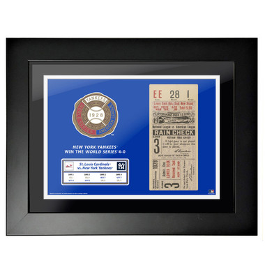 New York Yankees 1928 World Series Game 3 Framed 18 x 14 Ticket