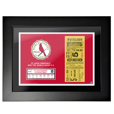 St. Louis Cardinals 1934 World Series Framed 18 x 14 Ticket