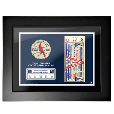 St. Louis Cardinals 1942 World Series Framed 18 x 14 Ticket