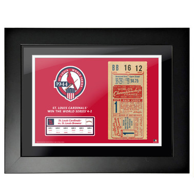 St. Louis Cardinals 1944 World Series Framed 18 x 14 Ticket