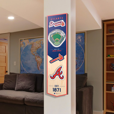 Atlanta Braves 8 x 32 3D StadiumView Banner