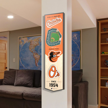 Baltimore Orioles 8 x 32 3D StadiumView Banner