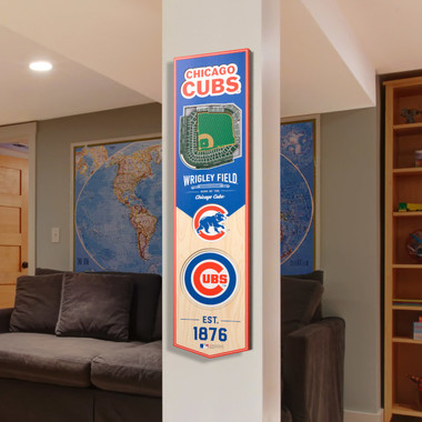 Chicago Cubs 8 x 32 3D StadiumView Banner