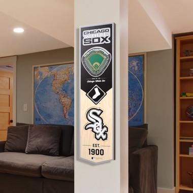 Chicago White Sox 8 x 32 3D StadiumView Banner