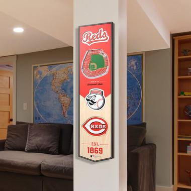 Cincinnati Reds 8 x 32 3D StadiumView Banner