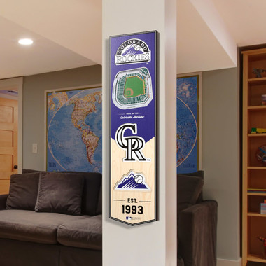 Colorado Rockies 8 x 32 3D StadiumView Banner
