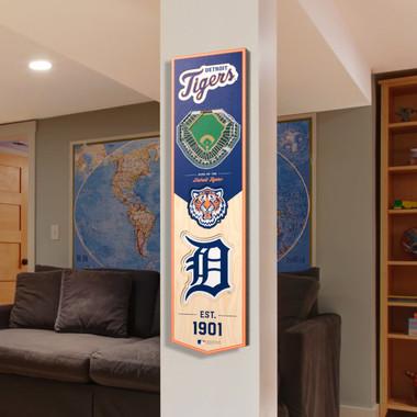 Detroit Tigers 8 x 32 3D StadiumView Banner
