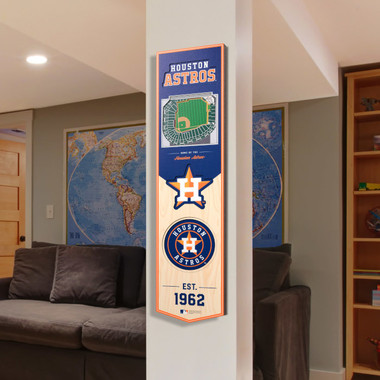 Houston Astros 8 x 32 3D StadiumView Banner