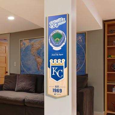 Kansas City Royals 8 x 32 3D StadiumView Banner