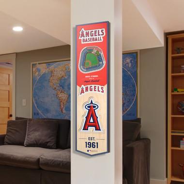 Los Angeles Angels 8 x 32 3D StadiumView Banner