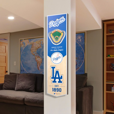 Los Angeles Dodgers 8 x 32 3D StadiumView Banner