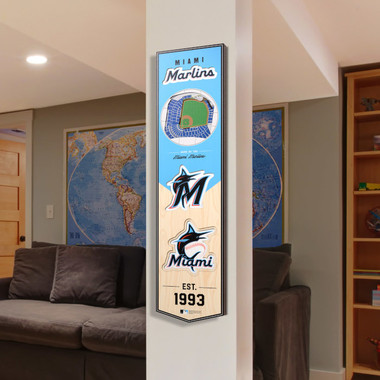 Miami Marlins 8 x 32 3D StadiumView Banner