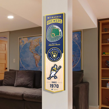 Milwaukee Brewers 8 x 32 3D StadiumView Banner